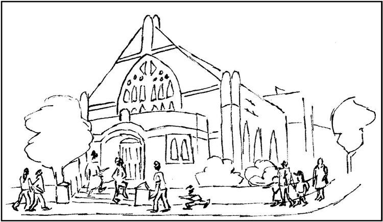 Drawing - Cheam Baptist Church